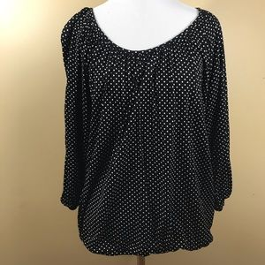 Michael Kors Polka Dot Top Black and White Large